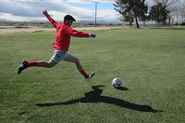 Footgolf player